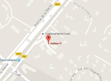 Itinéraire vers Insitoo sur Google Maps