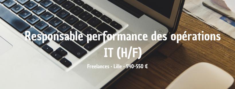 Responsable performance des opérations IT