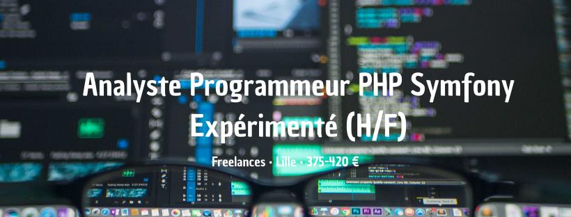 Analyste Programmeur PHP Symfony Expérimenté
