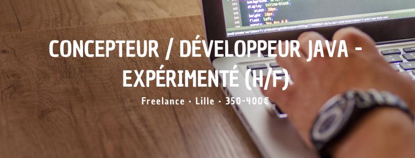 Concepteur / Développeur Java - Expérimenté (H/F)